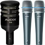 2x Shure Beta 57A with Audix D6 Microphone Pack