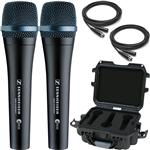 2x Sennheiser e935 Vocal Microphones with Gator Waterproof Mic Case and Cables