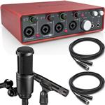 Focusrite Scarlett 18i8 USB Recording Interface with Audio Technica AT2041SP Microphone Pack