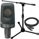 Audio Technica AE3000 Condenser Instrument Microphone with Stand and Cable