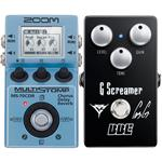 ZOOM MS-70CDR Multi-Effect with BBE G Screamer Overdrive Guitar Pedal Pack
