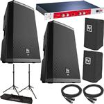 2x Electro-Voice ZLX-15P Powered Speakers with BBE 882i Sonic Maximizer, Stands, Covers and Cables