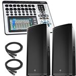 2x Electro-Voice ETX-35P 3-Way Powered Speaker + QSC TouchMix 16 Digital Mixer