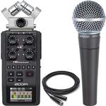 Zoom H6 Portable Recorder with Shure SM58 Vocal Microphone
