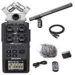 Zoom H6 Six-Track Portable Recorder with Audio-Technica AT897 Shotgun Condenser Microphone and Accessories