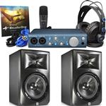 2x JBL LSR308 Studio Monitor and Presonus AudioBox iTwo Studio Recording Pack