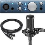 Audio-Technica AT2050 Condenser Microphone with Presonus AudioBox iOne USB Recording Interface
