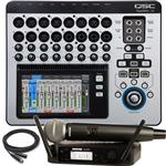 QSC TouchMix 16 Digital Mixer and Shure GLXD24/SM58 Handheld Wireless Microphone System