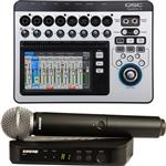 QSC TouchMix 8 Digital Mixer + Shure BLX24/SM58 Wireless Microphone System