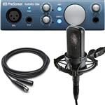 Audio-Technica AT4040 Microphone and Presonus AudioBox iOne Interface