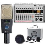 Zoom R24 Studio Interface with AKG C414 XLS Multi-Pattern Recording Microphone