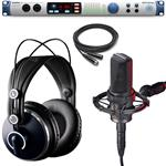 Presonus Studio 192 Interface and Audio Technica AT4050 Microphone and AKG K271 MKII Studio Monitor