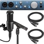 Audio Technica AT2041SP Stereo Pair Studio Microphones and Presonus AudioBox iTwo Recording Interface