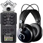 Zoom H6 Portable Solid State Recorder with AKG K271 MKII Studio Headphones
