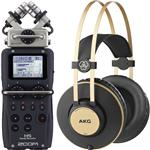 Zoom H5 Multitrack Handy Digital Recorder with AKG K92 Headphones