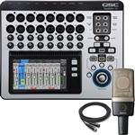 QSC Touchmix 16 Digital Mixing Console with AKG C314 Condenser Microphone
