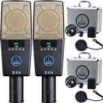 2x AKG C414 XLS Reference Multipattern Condenser Microphones