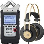Zoom H4n Pro Four-Track Handy Audio Recorder with AKG K92 Headphones