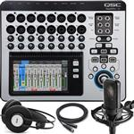 QSC Touchmix 16 Digital Mixing Console with Audio-Technica AT4040 Condenser Microphone and AKG K72 Headphones
