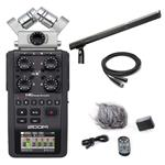 Zoom H6 Six-Track Portable Recorder with Audio-Technica AT8035 Shotgun Condenser Microphone and Accessories