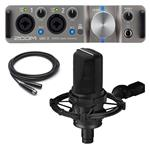 Audio-Technica AT4050 Condenser Microphone with Zoom UAC-2 Audio Converter and Cable