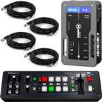 Roland V-1SDI HD Video Switcher with xVision SDI Distribution Amplifier and Cables