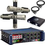 Zoom F8 Portable Multi-Track Recorder with Shure KSM137/SL Stereo Microphone System