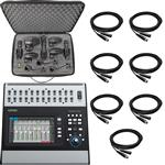 QSC Touchmix 30 Pro Digital Mixer with Shure 7-Piece Drum Microphone Kit