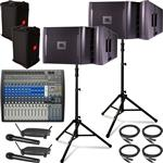 JBL VRX932LAP Powered PA System with Presonus Studiolive Mixing Console and Audio-Technica Wireless Microphones