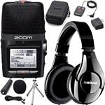 Zoom H2n Handy Recorder with Accessory Pack and Shure SRH240A Headphones