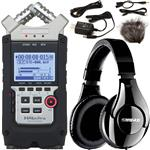 Zoom H4n Pro Handy Portable Recorder with Accessory Pack and Shure SRH240A Headphones
