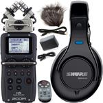 Zoom H5 Portable Recorder with Accessory Pack and Shure SRH440 Studio Headphones