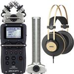Zoom H5 Portable Recorder with SGH-6 Shotgun Microphone and AKG K92 Headphones