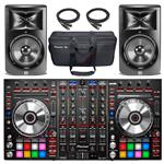 Pioneer DDJ-SX2 4-Channel Controller for Serato DJ with 2x JBL LSR308 Studio Monitor and Accessories