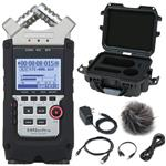 Zoom H4n Pro Four-Track 4-Channel Handy Audio Recorder with Accessories and Case