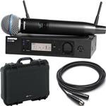 Shure GLX-D Advanced Handheld Beta 58 Wireless Microphone System with Waterproof Case