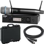 Shure GLX-D Advanced Handheld Beta 87A Wireless Microphone System with Waterproof Case