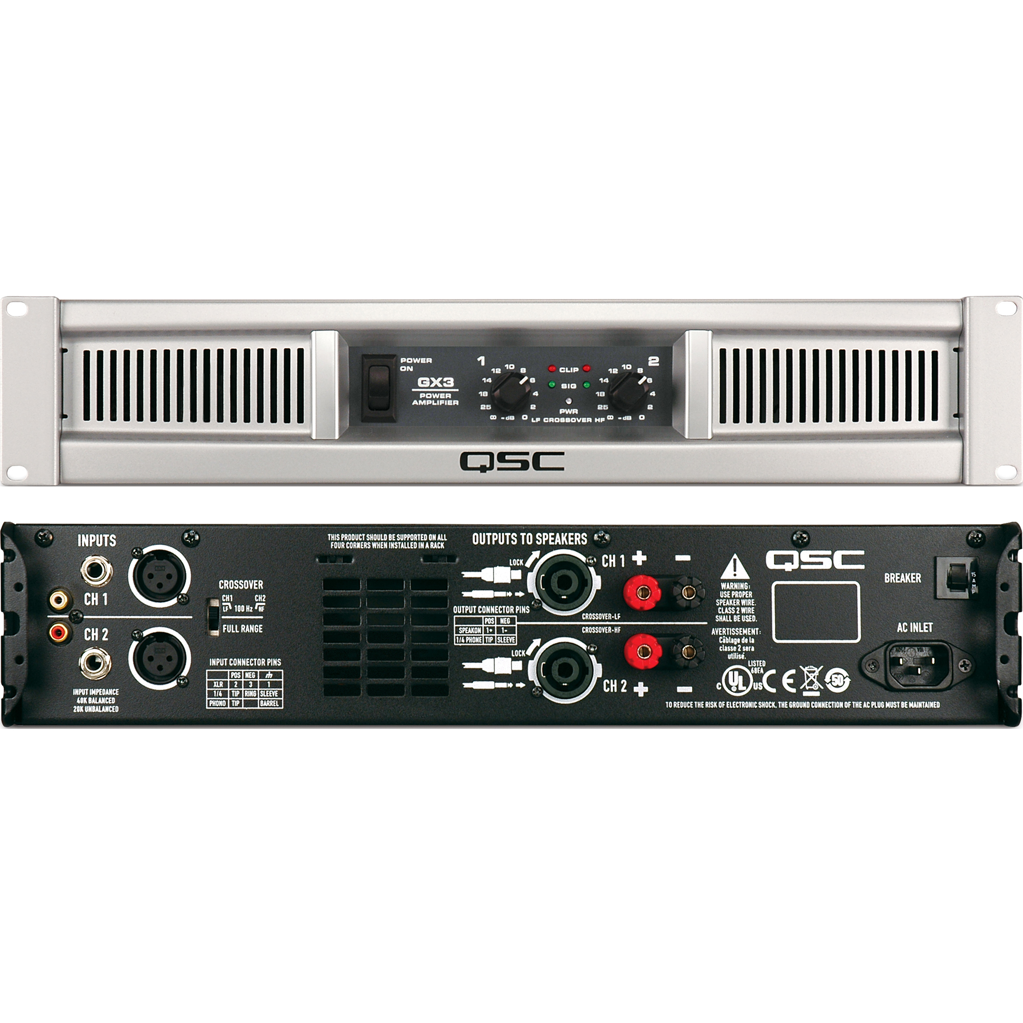 Welcome To Fplogistics Qsc Power Amplifiers Gx3 500w Amplifier